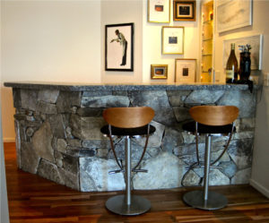Fieldstone Bar, Caledonia Granite Counter Top (View 2)