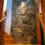 Stairwell Wall - Weathered Fieldstone Blend